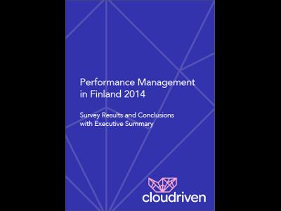 Cloudriven laati selvityksen suomalaisyritysten johtamisen tilasta. Selvitys keskittyy käsittelemään teemoja, jotka ovat tärkeitä tietotyössä, jossa operatiivinen tehokkuus yhdistyy luovuuden vaatimukseen.