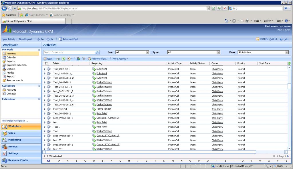 CRM-järjestelmä vuonna 2007